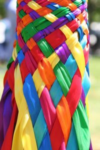 make your may day maypole festive with bright, colorful ribbons