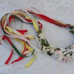 queen of may day flower and ribbon crown