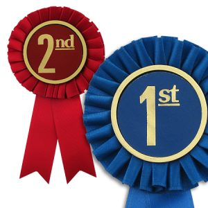 give an office award for a job well done with these rosette ribbons