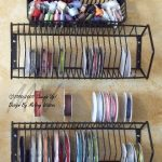 store your ribbon collection in Wire Baskets and CD Organizers