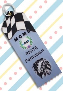 use pointed custom top ribbons for participant awards