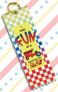 square custom top ribbons are great for remembering how much fun you had at an event