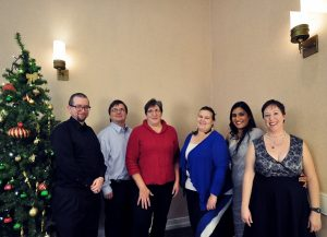 Marketing Department employees celebrating at the Coller Industries Incorporated Christmas party