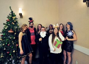 Customer Service employees celebrating at the Coller Industries Incorporated Christmas party