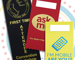 use badge ribbons for your next business event