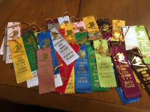 custom top ribbons are the perfect award for those who participate in winter sports
