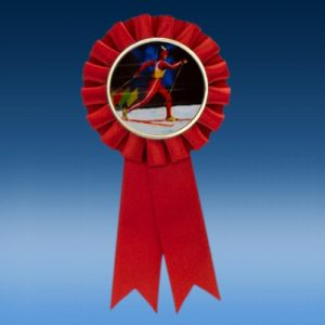 rosette ribbons are a perfect way to celebrate winter sports