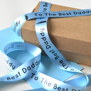 Father's Day ribbon with a special message for dad