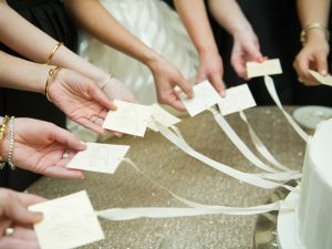 cake pulls are a fun way to incorporate southern traditions into your wedding