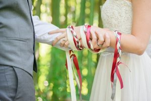 handfasting ceremonies are just one of the many traditions performed at weddings