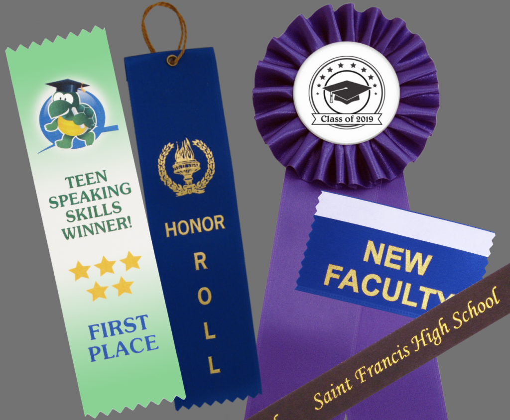 use any of our personalized ribbons for your back to school needs