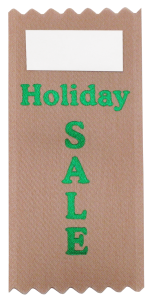 a small business can use vertical badge ribbons for holiday sales