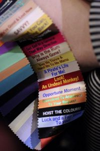 stacked badge ribbons for added ribbon flair to a badge holder