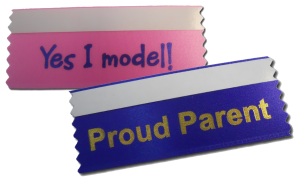 badge ribbons with text to use for pageant ribbons