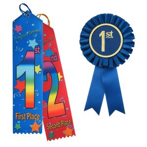 Stock award ribbons are a great way to acknowledge success.